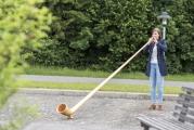 <h5>Urchige Klänge</h5><p>Sorgte für Gänsehaut. Die 21-jährige Alphornsolistin Lisa Stoll aus Schaffhausen.</p>