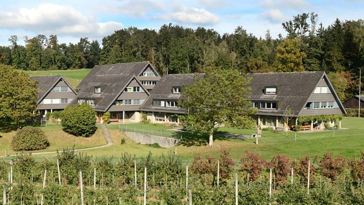 Die Wohnung liegt auf dem Heimareal im Gruppenhaus 2 der Zürcherischen Pestalozzistiftung.