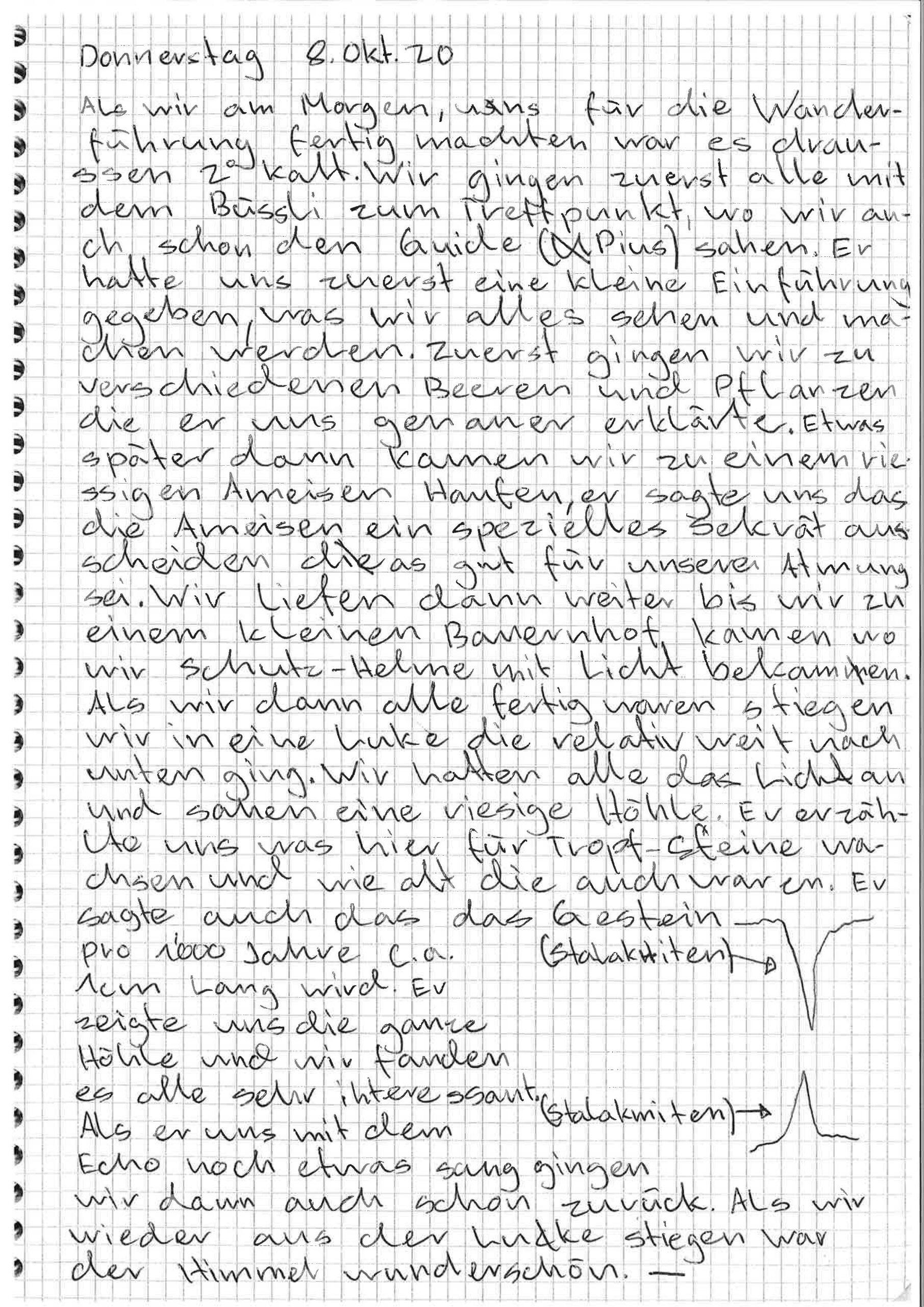 Herbstlager 2020 – Bericht von Melvin