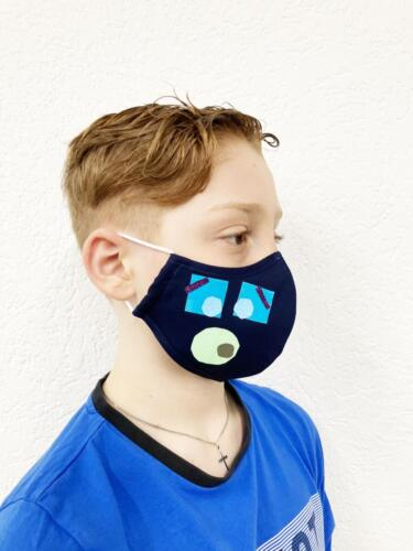Maske getragen